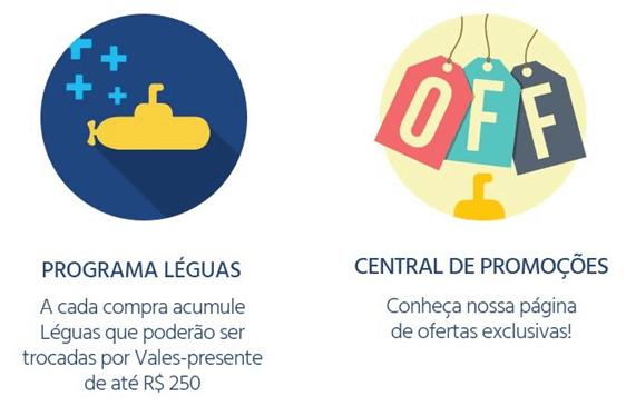 O cartão Submarino oferece vantagens como descontos especiais, parcelamento  diferenciado, o