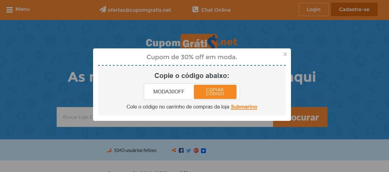 Cupom de Desconto Submarino - Até 50% - outubro 2018 bd57453def
